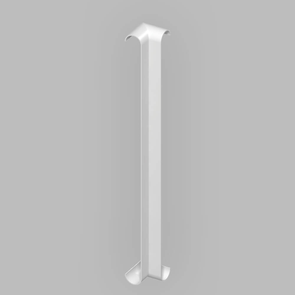 Fascia Board - Bull-nosed 90˚ Internal Corner Trim - 300mm - White