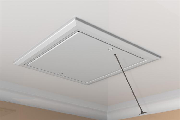 Timloc Plastic Drop In Loft Access Door 562 X 665mm White