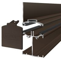 Alukap-SS - Low Profile Wall Bar - Brown
