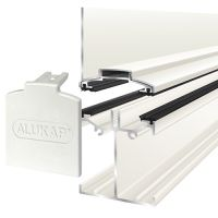 Alukap-SS - Low Profile Wall Bar - White