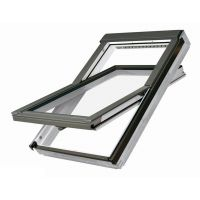 Fakro Roof Window - Centre Pivot in White Polyurethane Coated Pine - Laminated Double Glazed [FTU-V P2]