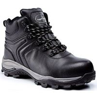Rugged Terrain - Waterproof Metal Free Hiker Safety Boots (S3 SRC) - Black Leather