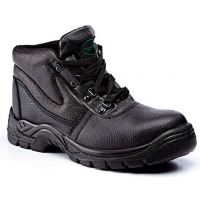 Rugged Terrain - Chukka Safety Boots (SBP SRC) - Black Leather