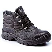 Rugged Terrain - Waterproof Chukka Safety Boots (S3 SRC) - Black Leather