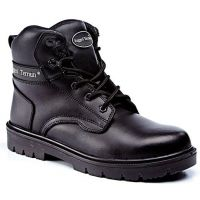 Rugged Terrain - Derby Safety Boots (S3 SRC) - Black Leather