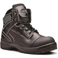 Rugged Terrain - Waterproof Safety Boots with Scuff Cap (S3 WRU HRO SRC) - Black Leather