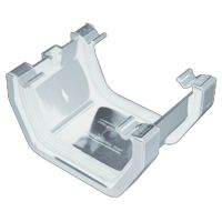 Plastic Guttering Squareline - Union - 114mm x 59mm - White