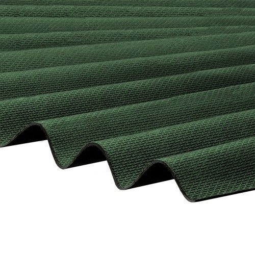 Corrapol-BT - Corrugated Bitumen Roof Sheet - Green (2000 x 930mm)