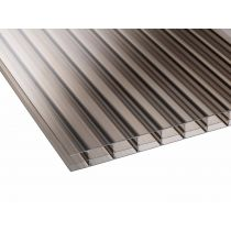 Corotherm 16mm - Triplewall Polycarbonate Sheet - Bronze (2500x700x16mm)