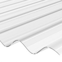 Corrapol Stormproof - Low Profile Corrugated Polycarbonate Roofing Sheet - Clear