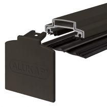 Alukap-XR - 45mm Aluminium Glazing Bar with End Cap - Brown