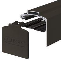 Alukap-XR - 60mm Aluminium Gable Bar with End Cap - Brown