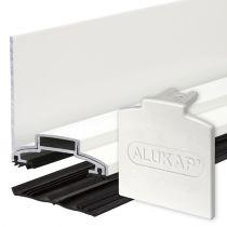 Alukap-XR - 60mm Aluminium Wall Bar with End Cap - White