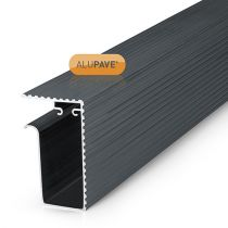 Alupave - Aluminium Fireproof Flat Roof and Decking Side Gutter