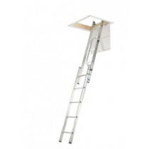 Werner 2.69m 2 Section Aluminium Loft Ladder with Handrail
