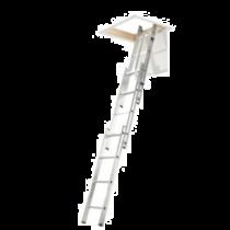 Werner 3m 3 Section Aluminium Loft Ladder with Handrail