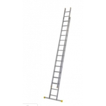 Werner Aluminium Double Extension Ladder with Stabiliser Bar