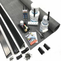 Classic Bond - EPDM Rubber Flat Roof Kit with Trims