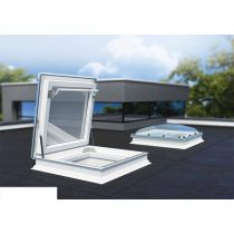 Fakro Flat Roof Window - Flat Access Roof Light with Polycarbonate Dome - Safety Double Glazing [DRC-C P2]