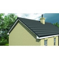 Timloc Dry Fix Verge for Profiled Tiles - Angled Ridge Cap with Screws - 270 x 65 x 220mm