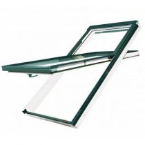 Fakro Roof Window - High Hung in Pine - Laminated Double Glazing [FDY-V P2]