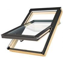 Fakro Roof Window - Centre Pivot in Pine - Passive Quadruple Glazing [FTT U8]