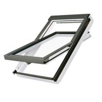Fakro Roof Window - Centre Pivot in White Polyurethane Coated Pine - Sound Reducing Triple Glazing [FTT/U R3]