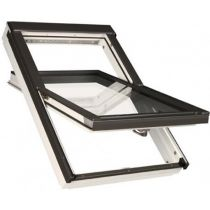 Fakro Roof Window - Centre Pivot in White Acrylic Coated Pine - Energy Efficient Triple Glazing [FTT/W U6]