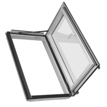 Fakro Roof Window - Side Hung Escape in White Polyurethane Coated Pine - Energy Efficient Double Glazing [FWR/U P2]
