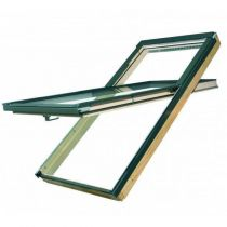 Fakro Roof Window - High Hung in Pine - Laminated Double Glazing [FYP-V P2]