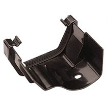 Plastic Guttering - Square to Ogee Adaptor Left Hand - Black