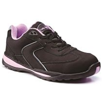 Rugged Terrain - Ladies Safety Trainers (SB SRC) - Black Nubuck