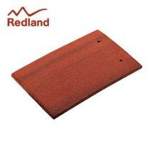 Redland Plain Eaves/Top Tile - Concrete Tile - Smooth Farmhouse Red