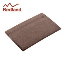 Redland Plain Eaves/Top Tile - Concrete Tile - Smooth Tudor Brown