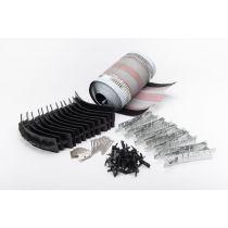 Corovent URS - Universal Dry Fix Ridge System Kit - Black