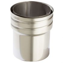 Flexiwall Flue Liner to Stove Pipe Adaptor - 316 Grade Stainless Steel - 125mm to 150mm