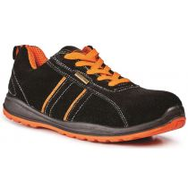 Rugged Terrain - Sport Safety Trainers (SB SRC) - Black/Orange Suede