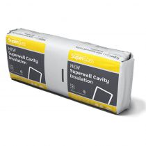 Superglass Superwall 36 - Glass Mineral Wool Cavity Wall Batt - (1200mm x 455mm x 100mm - 4.37m2)