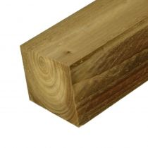Timber Decking Post (Sawn Green Treated) - 100mm x 100mm x 3m
