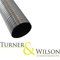 Turner & Wilson Flue/Chimney Liner - 316 Grade Stainless Steel - Per Linear Meter