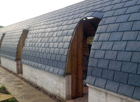 Where can Eco Slate Synthetic Roof Tiles be used