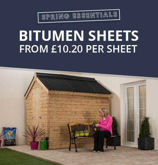 Bitumen Roofing Sheets from £10.20