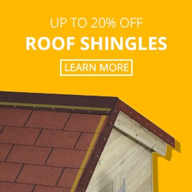 Up to 20% Off Roof Shingles