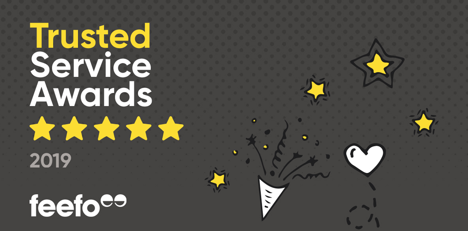 Kicking Off 2019 with a Bang - Winning Feefo's Gold Trusted Service Award