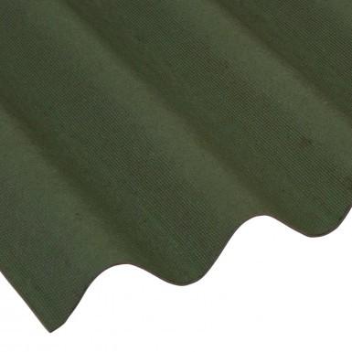 Coroline - Corrugated Bitumen Roof Sheet - Green (2000 x 950mm)