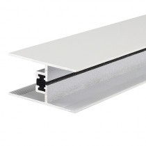 Alukap-XR - 24/25mm Horizontal Glazing Bar - White (2100mm)