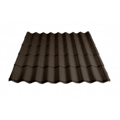 Britmet - Pantile 2000 - Tile Effect Sheet - Made to Measure - Tudor Brown (0.9mm)