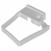 Plastic Guttering Squareline - Single Fix Down Pipe Clip - 65mm - White