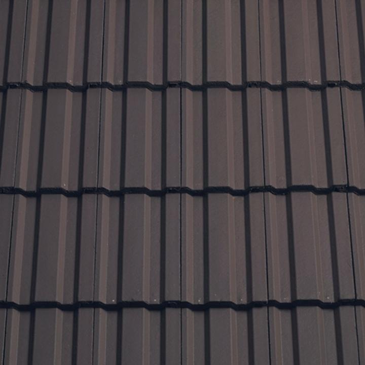Sandtoft Standard Pattern Concrete Tile Smooth Brown