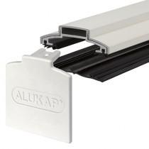 Alukap-XR - 60mm Aluminium Glazing Bar with End Cap - White
